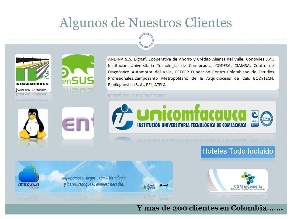 Y mas de 200 clientes en Colombia……. Algunos de Nuestros Clientes