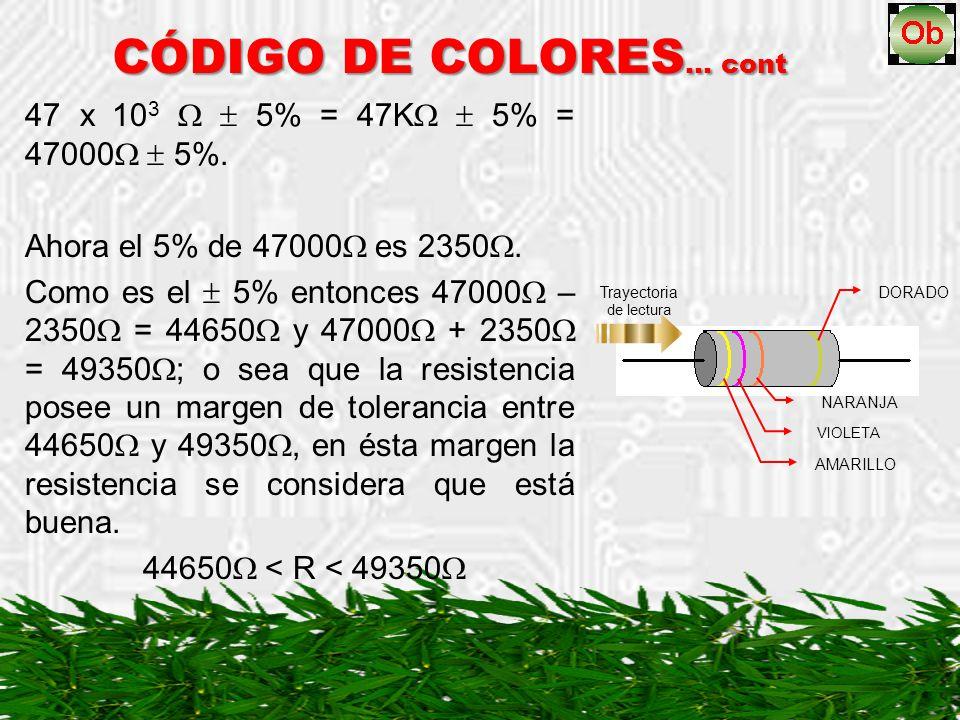 47 x 10 3 5% = 47K 5% = 47000 5%. Ahora el 5% de 47000 es 2350. Como es el 5% entonces 47000 – 2350 = 44650 y 47000 + 2350 = 49350 ; o sea que la resi