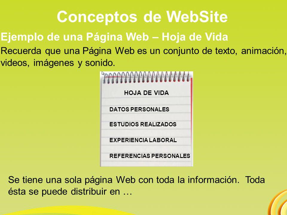 Conceptos de WebSite 4.