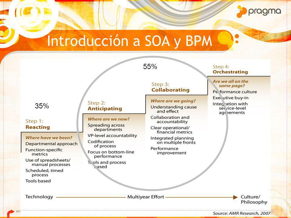 Introducción a SOA y BPM © PRAGMA S.A. 10 35% 55%