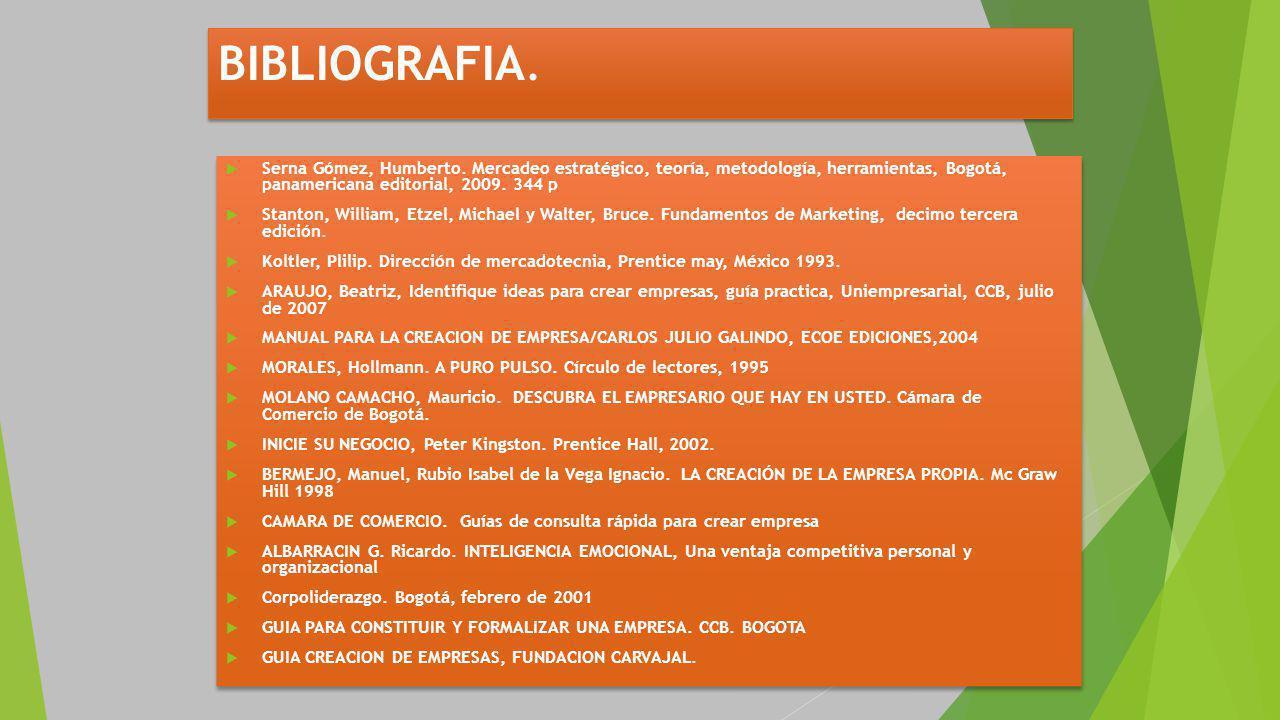 BIBLIOGRAFIA.Serna Gómez, Humberto.