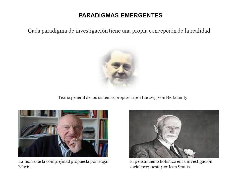 PARADIGMAS EMERGENTES La teoría de la complejidad propuesta por Edgar Morín Teoría general de los sistemas propuesta por Ludwig Von Bertalanffy El pen