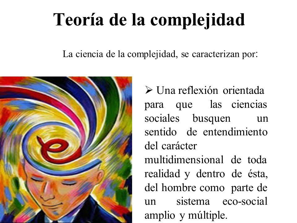 Teoría de la complejidad Una reflexión orientada para que las ciencias sociales busquen un sentido de entendimiento del carácter multidimensional de t
