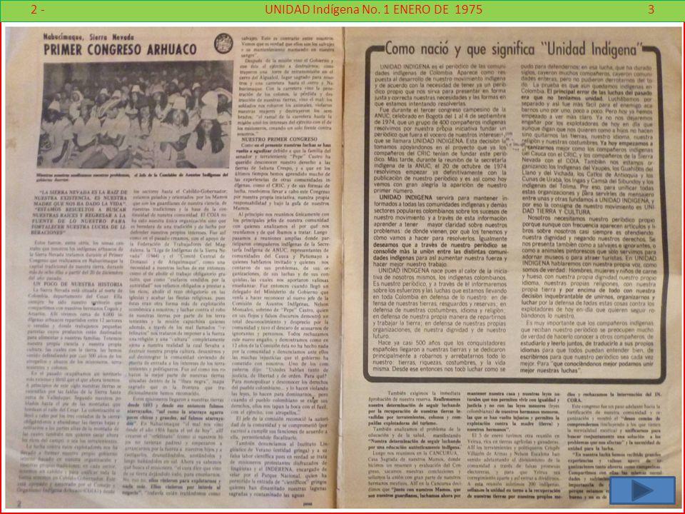 2 - UNIDAD Indígena No. 1 ENERO DE 1975 3