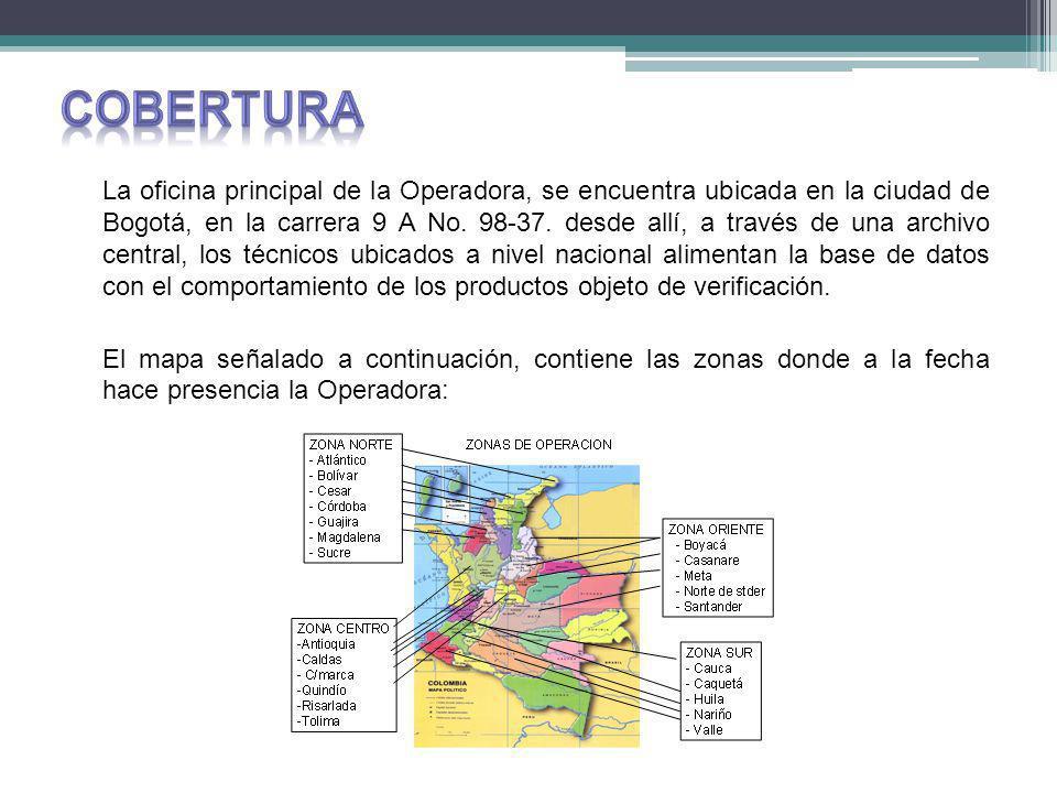 La oficina principal de la Operadora, se encuentra ubicada en la ciudad de Bogotá, en la carrera 9 A No.