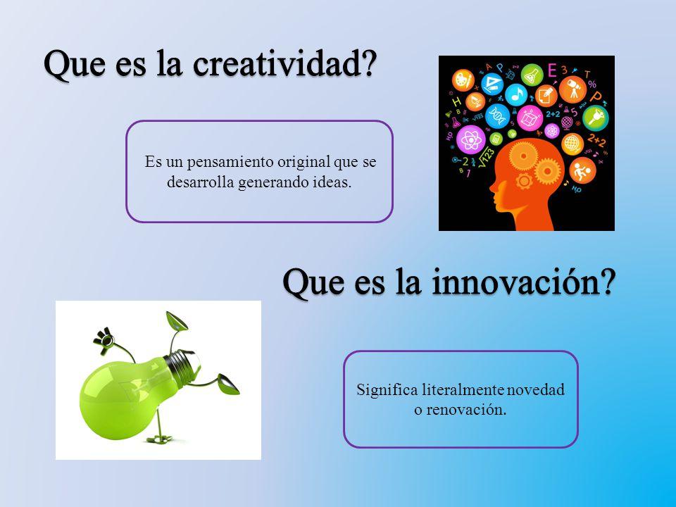 Creatividad: http://www.youtube.com/watch?v=IXdj_0Xphyw Innovación: http://www.youtube.com/watch?v=GLRgWcNymcI