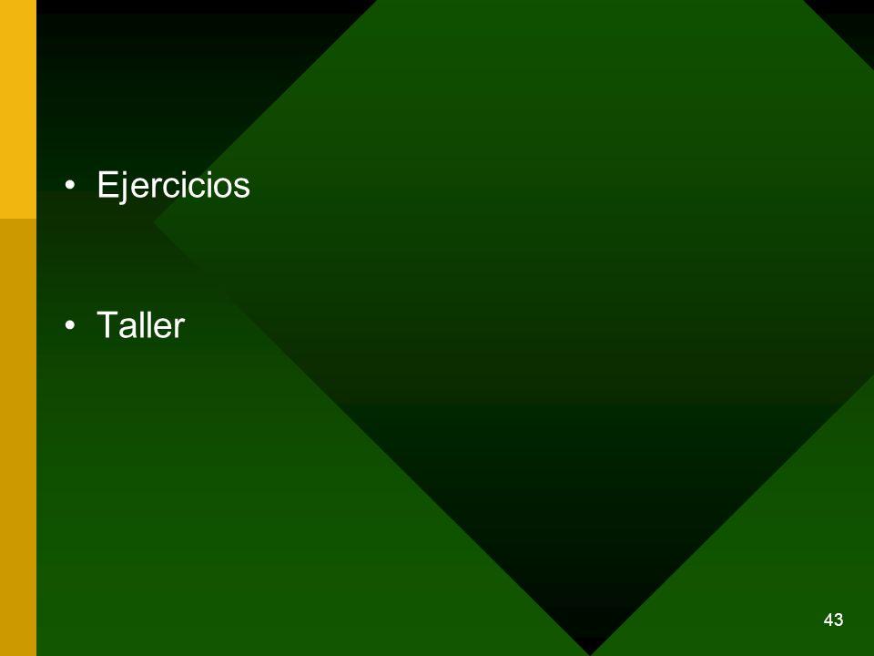 Ejercicios Taller 43