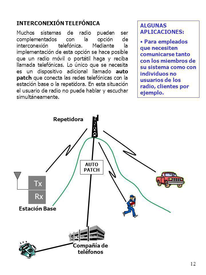 11 SISTEMAS DE ÁREA EXTENDIDA (ENLACES) Estos sistemas enlazan repetidoras, permitiendo de esta manera que usuarios de sistemas alejados puedan entabl