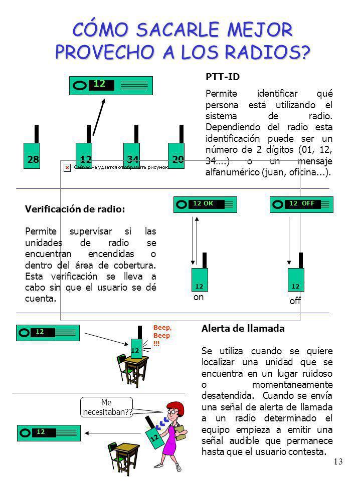 12 INTERCONEXIÓN TELEFÓNICA Muchos sistemas de radio pueden ser complementados con la opción de interconexión telefónica. Mediante la implementación d