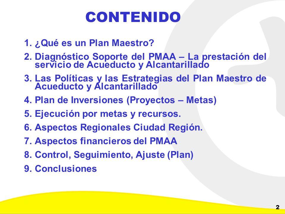 Dirección de Planeación y Control de Inversiones Gerencia Corporativa de Planeamiento y Control 2 CONTENIDO 1.¿Qué es un Plan Maestro? 2.Diagnóstico S