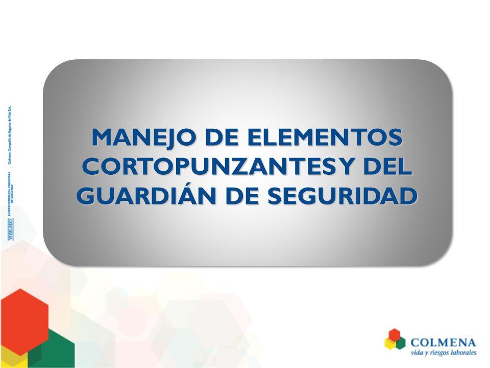 MANEJO DE ELEMENTOS CORTOPUNZANTES Y DEL GUARDIÁN DE SEGURIDAD