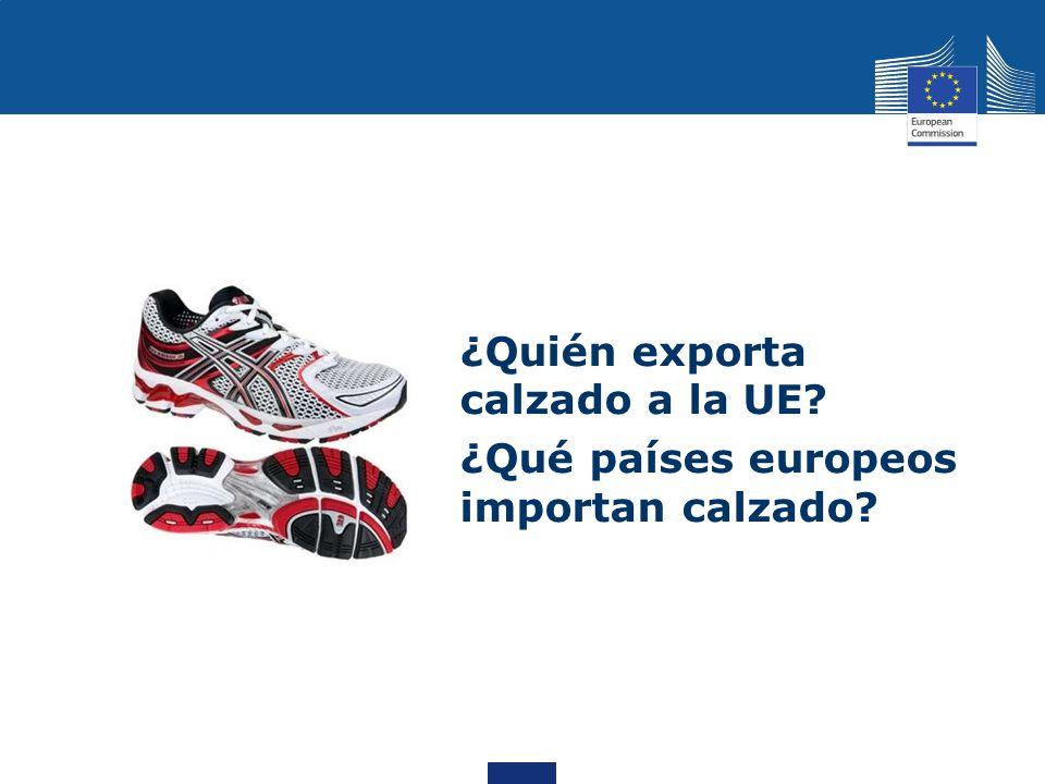 ¿Quién exporta calzado a la UE? ¿Qué países europeos importan calzado?