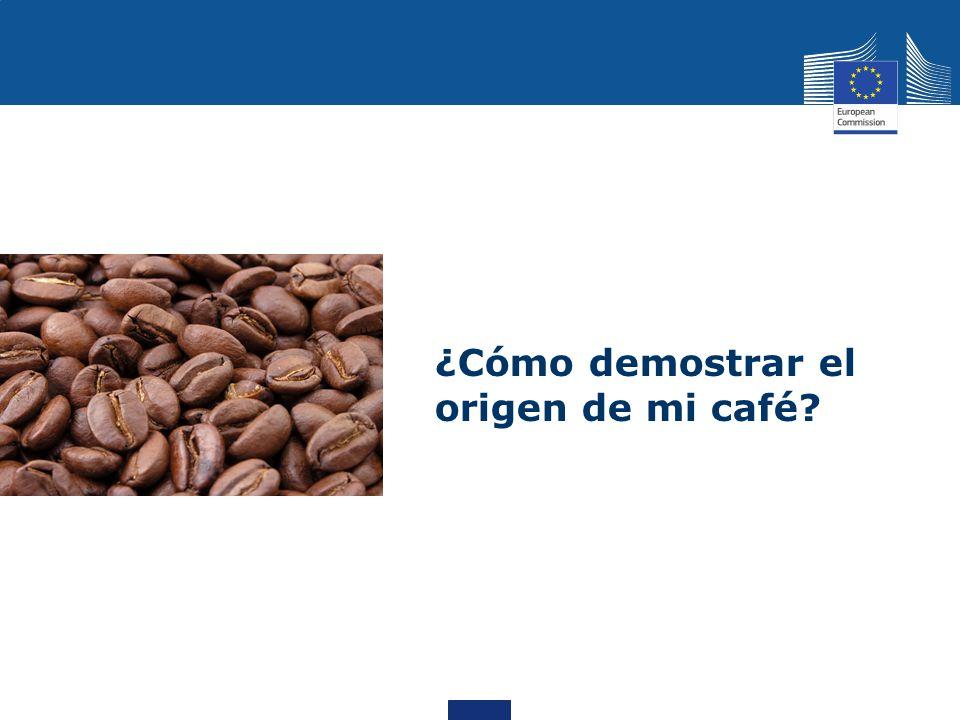¿Cómo demostrar el origen de mi café?