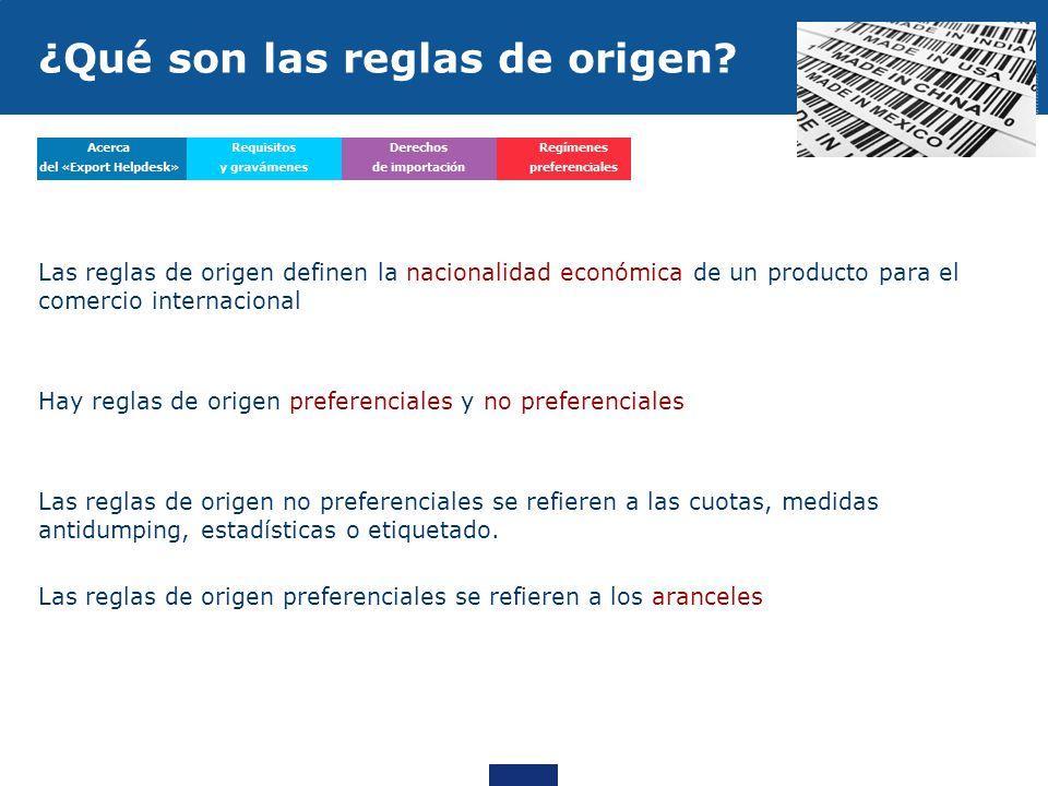 Las reglas de origen definen la nacionalidad económica de un producto para el comercio internacional Hay reglas de origen preferenciales y no preferen