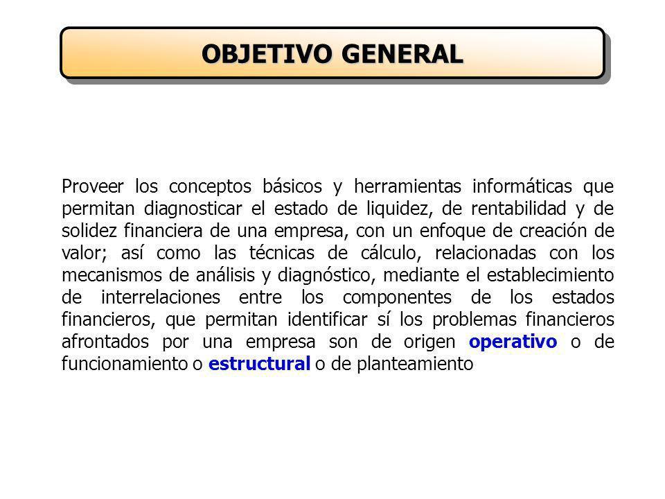Proporcionar los conceptos y técnicas de cálculo relacionados con las finanzas operativas, que son el resultado del funcionamiento de la empresa.