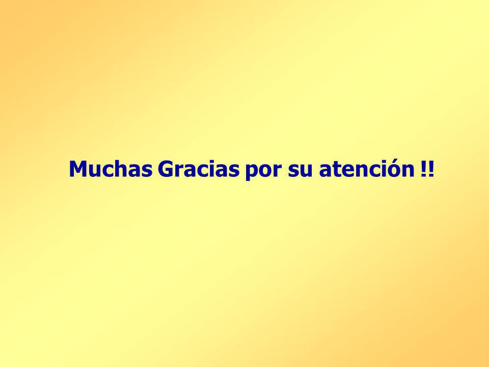 Muchas Gracias por su atención !!