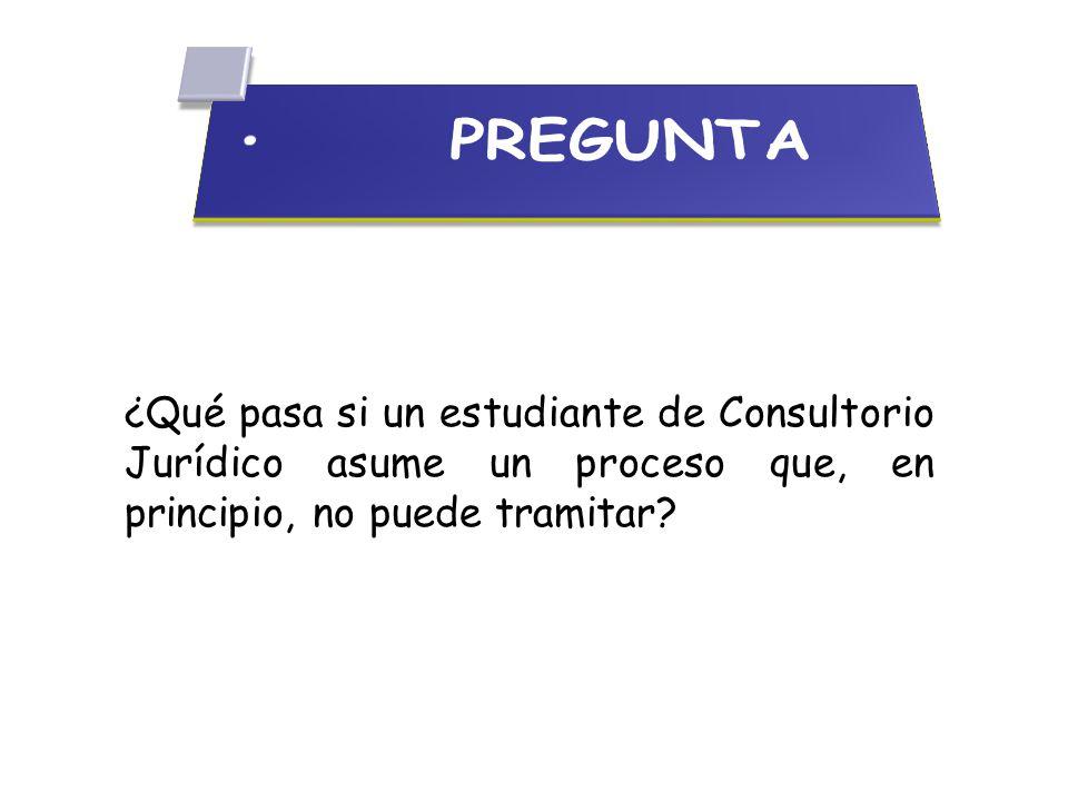 ¿Qué pasa si un estudiante de Consultorio Jurídico asume un proceso que, en principio, no puede tramitar?
