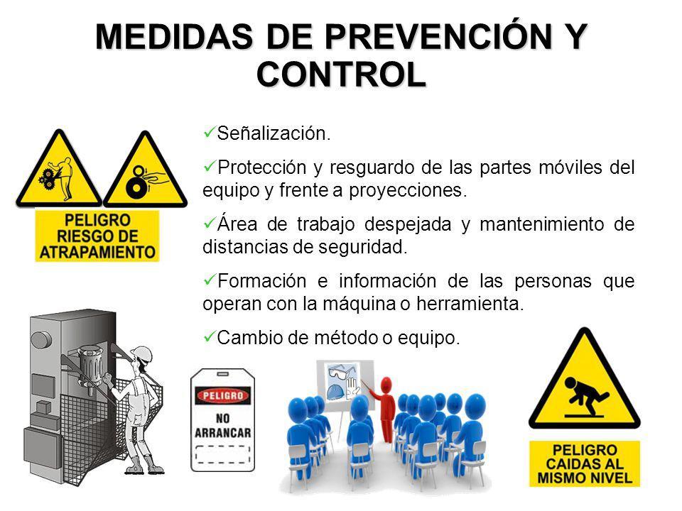 MEDIDAS DE PREVENCIÓN Y CONTROL Señalización.