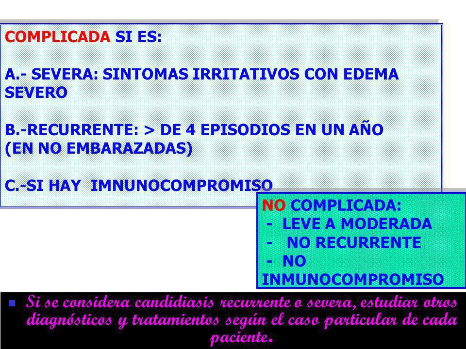 DR FREDDY MONDRAGON T12 CANDIDIASIS Si se considera candidiasis recurrente o severa, estudiar otros diagnósticos y tratamientos según el caso particular de cada paciente.