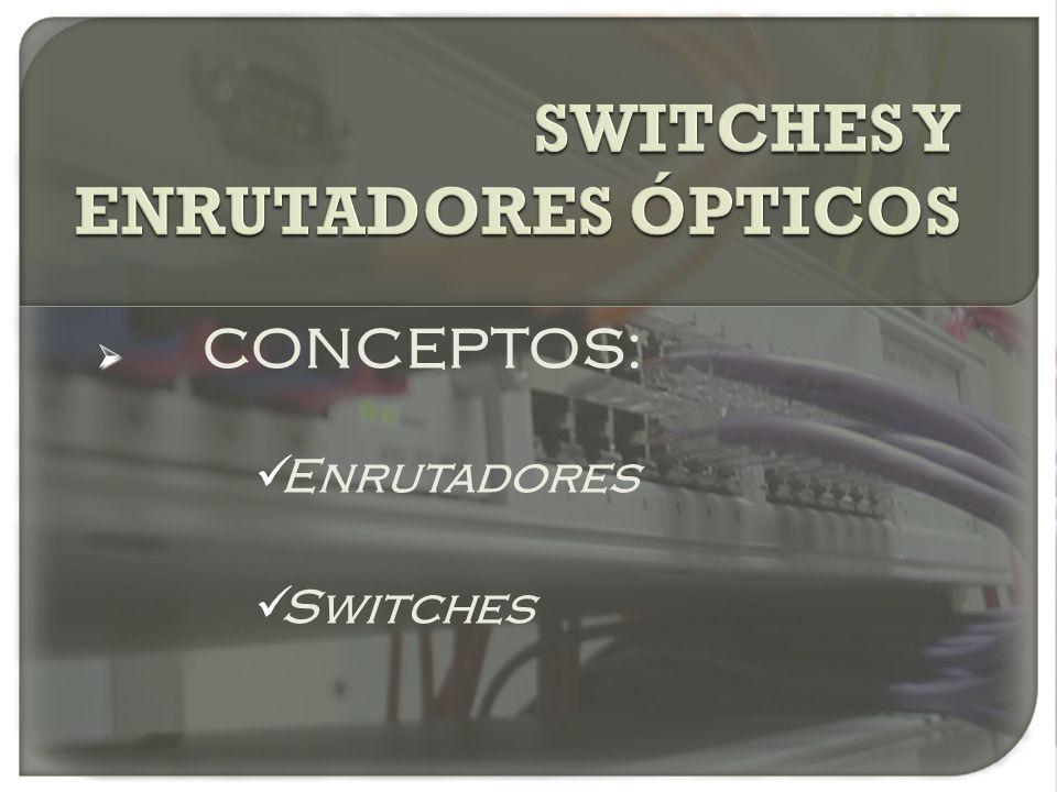 CONCEPTOS: Enrutadores Switches