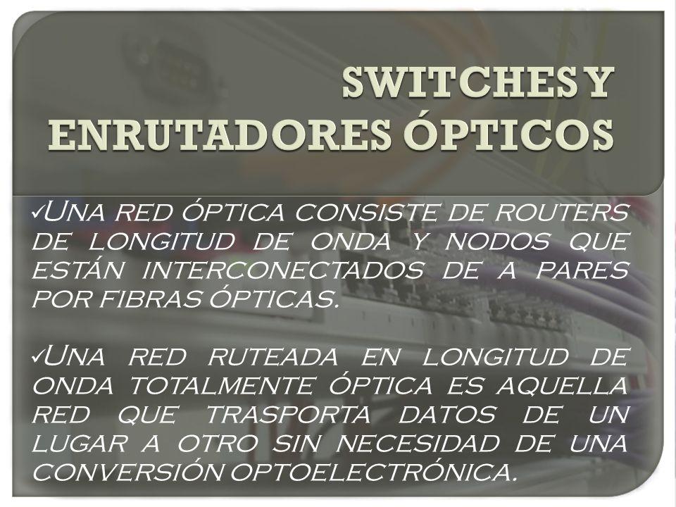 Una red óptica consiste de routers de longitud de onda y nodos que están interconectados de a pares por fibras ópticas. Una red ruteada en longitud de