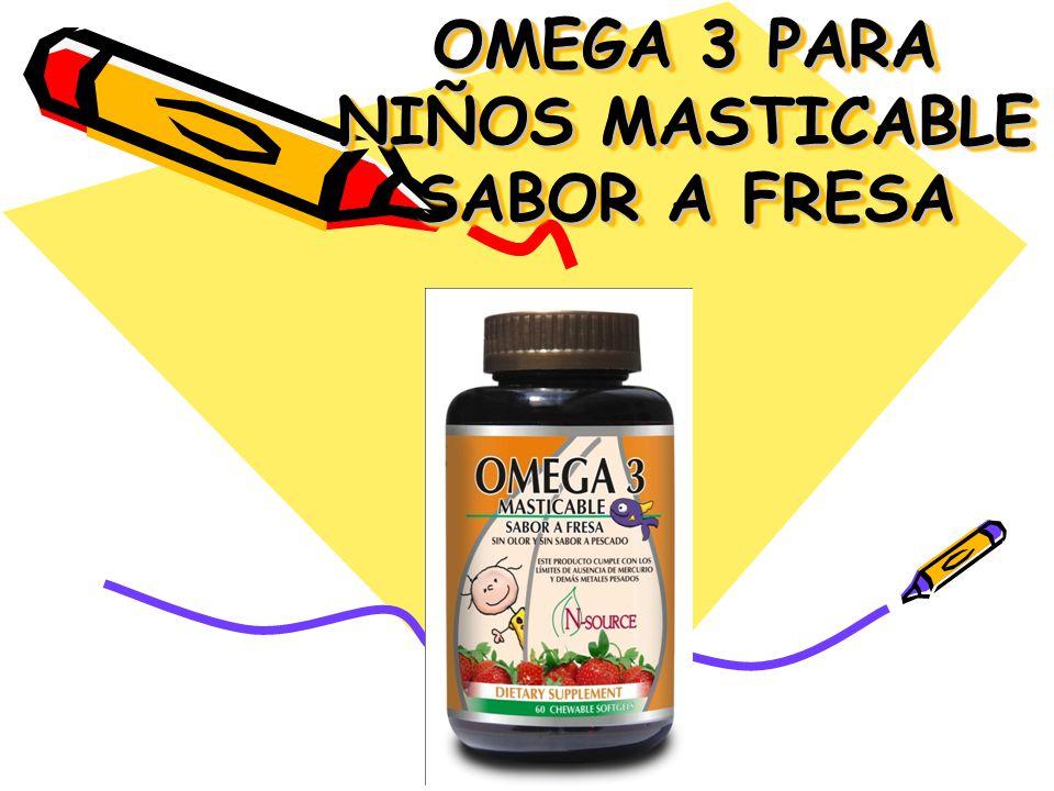BENEFICIOS Es increíble los beneficios del Omega 3 en los niños para toda las etapas de su crecimiento.