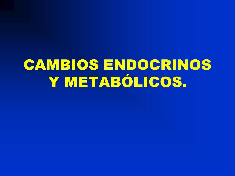 CAMBIOS ENDOCRINOS Y METABÓLICOS.