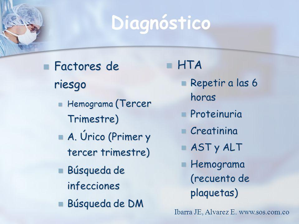 Tratamiento Remisión inmediata Remisión inmediata HTA HTA Sx de HELLP Sx de HELLP Síntomas tempranos de preeclampsia Síntomas tempranos de preeclampsia Ibarra JE, Alvarez E.