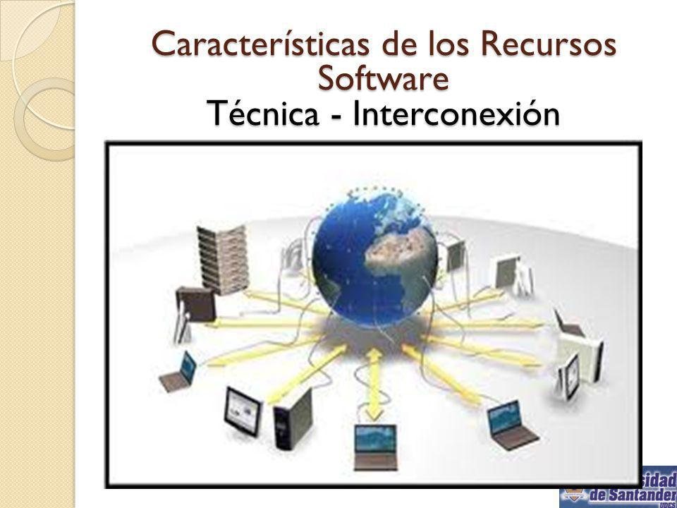 Características de los Recursos Software Técnica - Interconexión