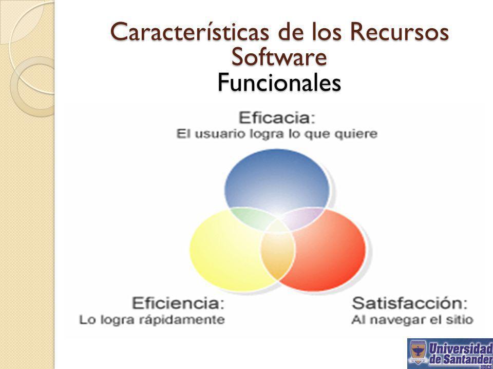 Características de los Recursos Software Funcionales