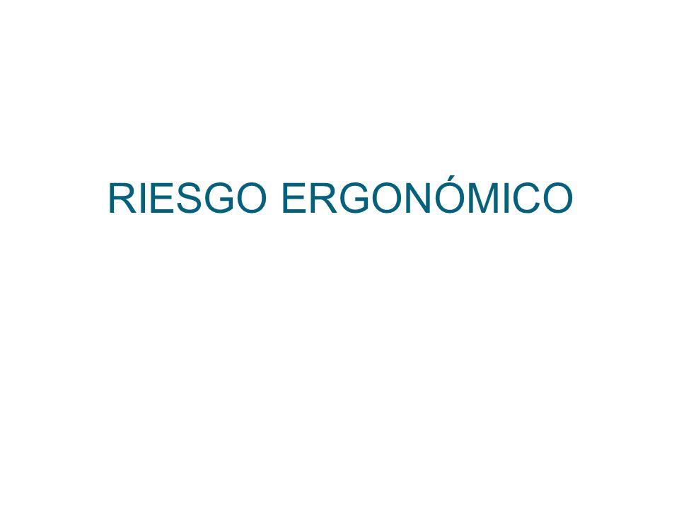 RIESGO ERGONÓMICO