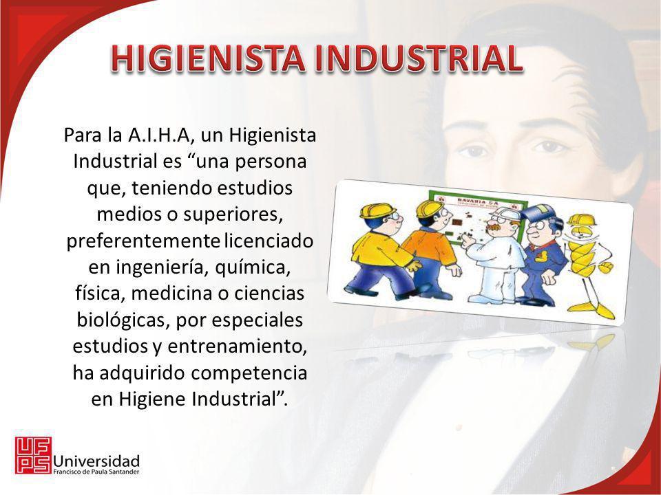 Capacidades de un higienista industrial Prever los riesgos para la salud.