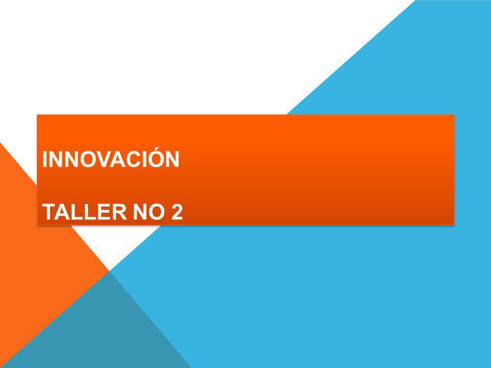 INNOVACIÓN TALLER NO 2