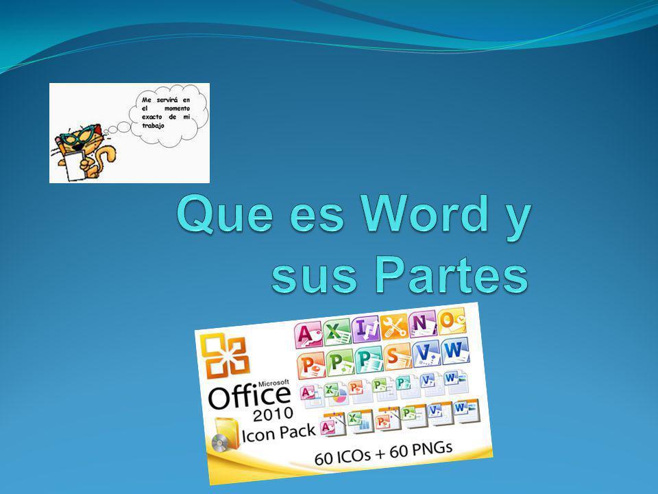 QUE ES WORD Microsoft Word es un programa de texto que nos permite crear documentos de una forma fácil y práctica, también nos permite guardar información importante que utilizamos en nuestro lugar de trabajo, así como también para nuestras actividades académicas y personales.
