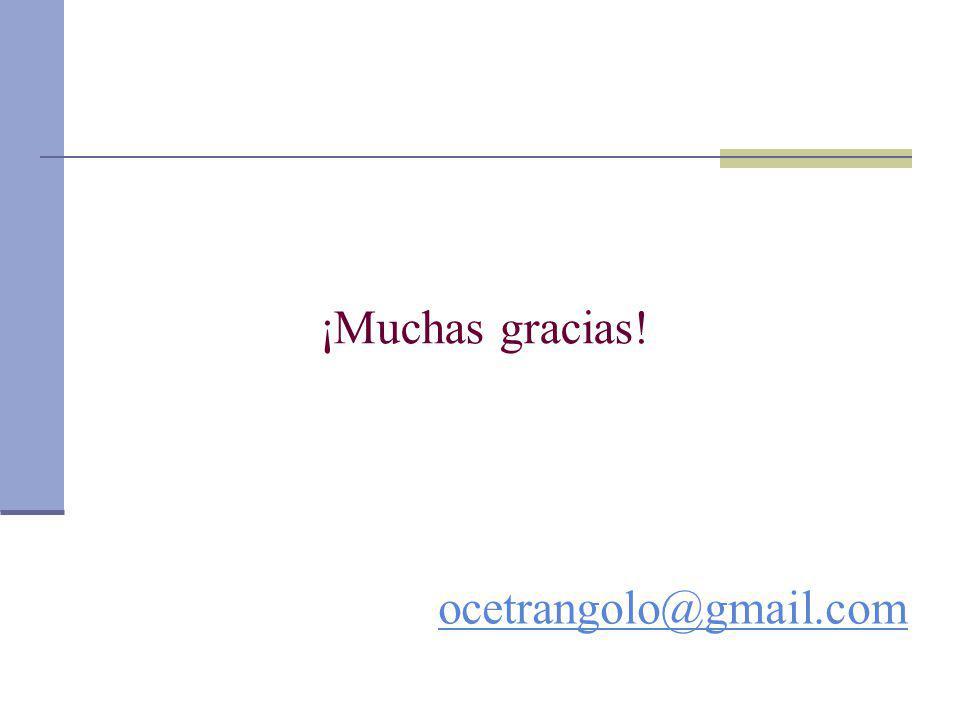 ¡Muchas gracias! ocetrangolo@gmail.com
