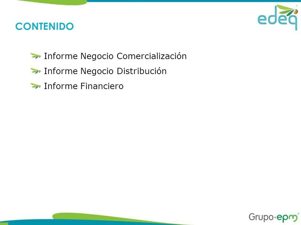 Informe Negocio Comercialización Informe Negocio Distribución Informe Financiero CONTENIDO