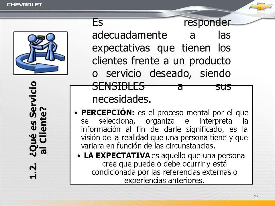 1.2. ¿Qué es Servicio al Cliente? PERCEPCIÓN: es el proceso mental por el que se selecciona, organiza e interpreta la información al fin de darle sign