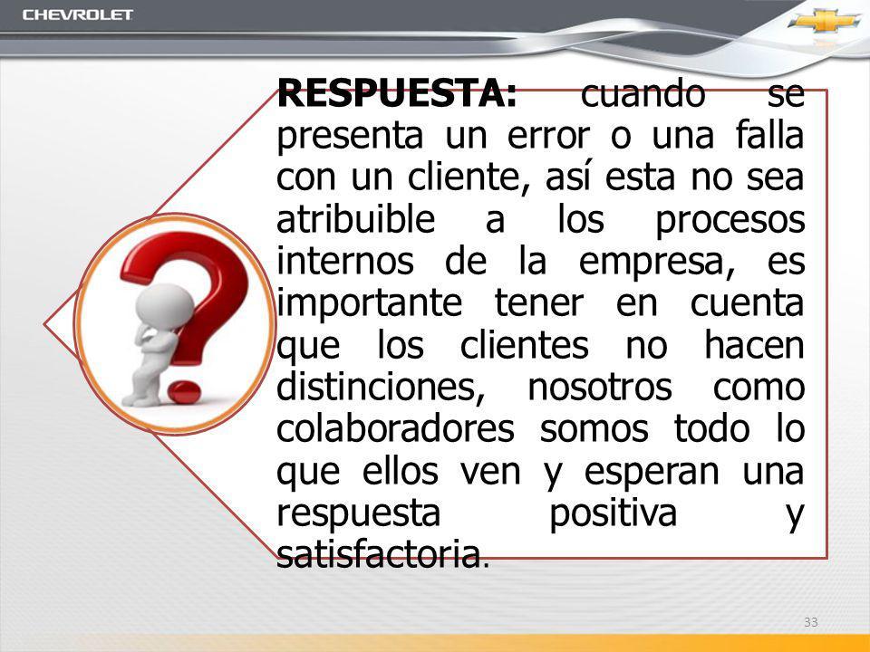 RESPUESTA: cuando se presenta un error o una falla con un cliente, así esta no sea atribuible a los procesos internos de la empresa, es importante ten