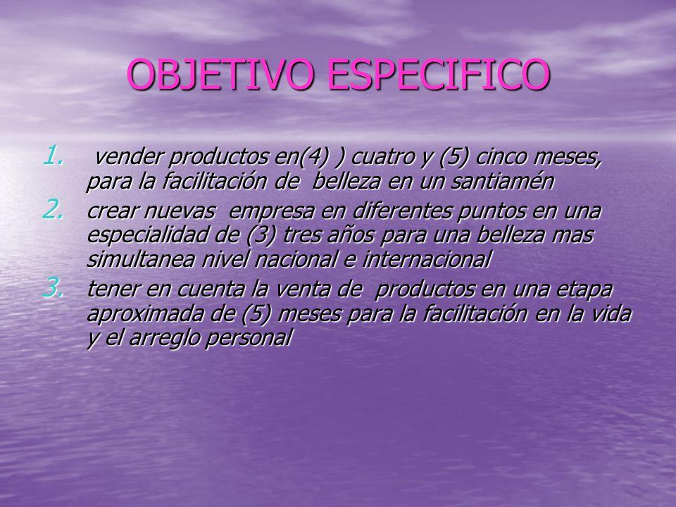 OBJETIVO ESPECIFICO 1.