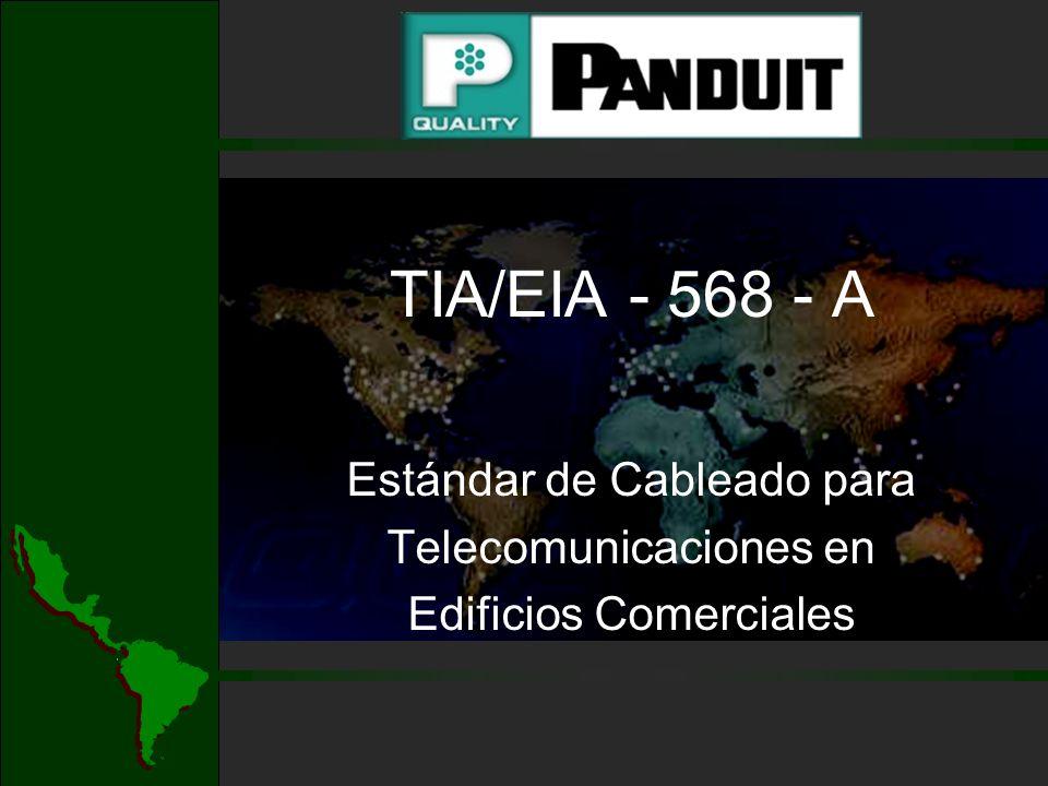 TIA/EIA - 568 - A AREA DE TRABAJO Se extiende desde la placa de pared hasta el equipo del usuario Diseñado para cambios, modificaciones y adiciones fáciles