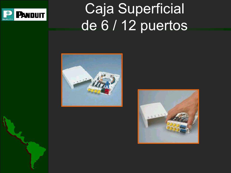 Caja Superficial de 6 / 12 puertos