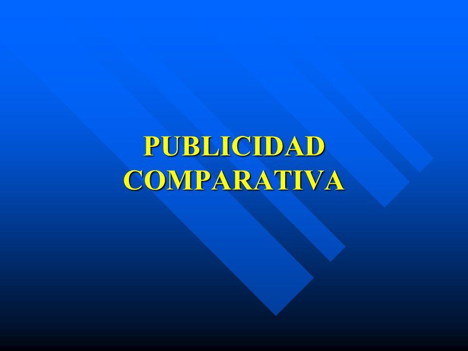 PUBLICIDAD COMPARATIVA