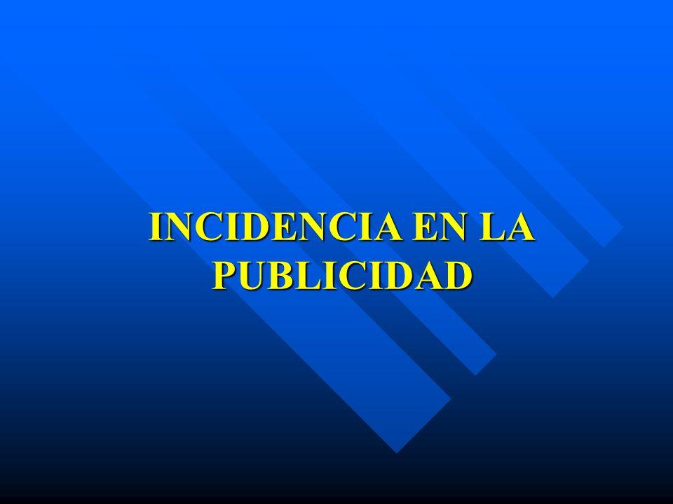 INCIDENCIA EN LA PUBLICIDAD