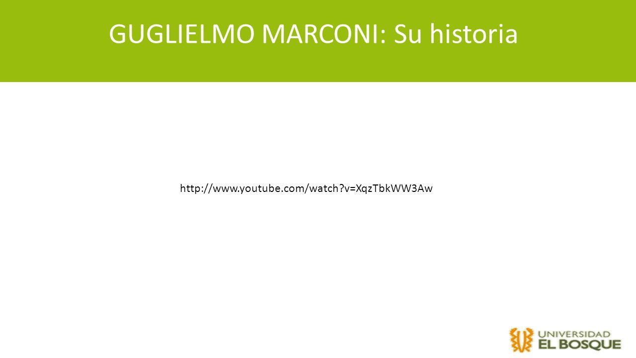 GUGLIELMO MARCONI: Su historia http://www.youtube.com/watch?v=XqzTbkWW3Aw
