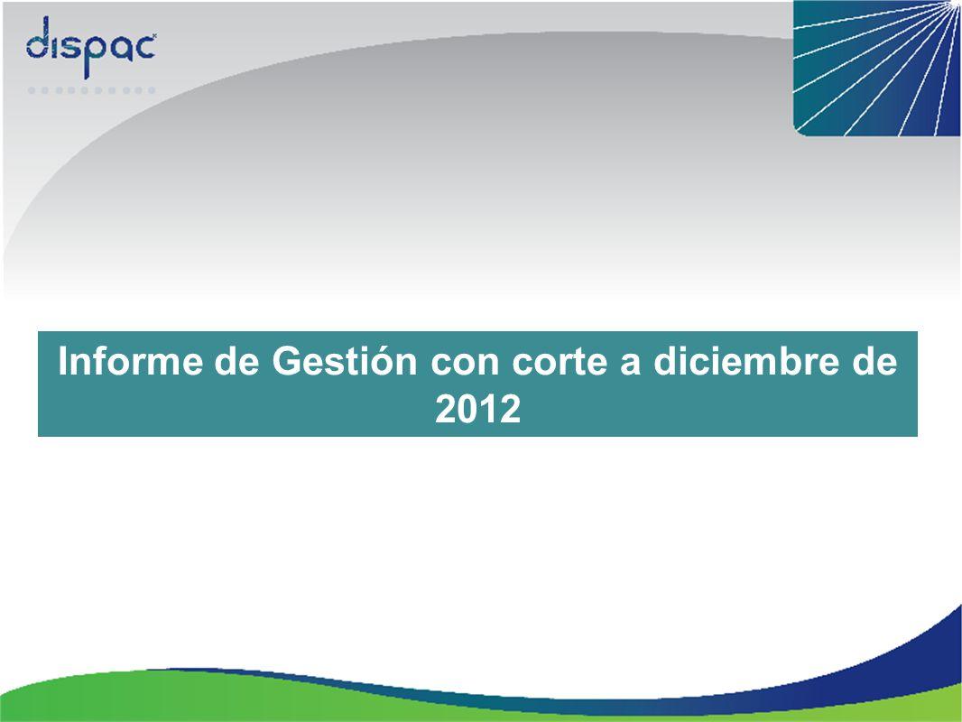 Informe de Gestión con corte a diciembre de 2012