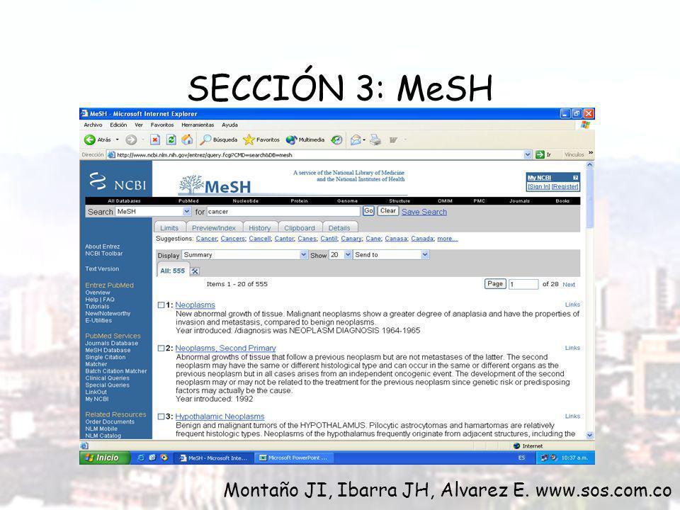 Repita los ejercicios de la SECCIÒN 1 usando PubMed Compare sus resultados.