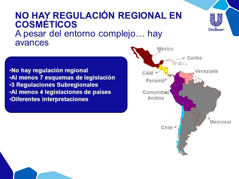 No hay regulación regional Al menos 7 esquemas de legislación 3 Regulaciones Subregionales Al menos 4 legislaciones de países Diferentes interpretacio