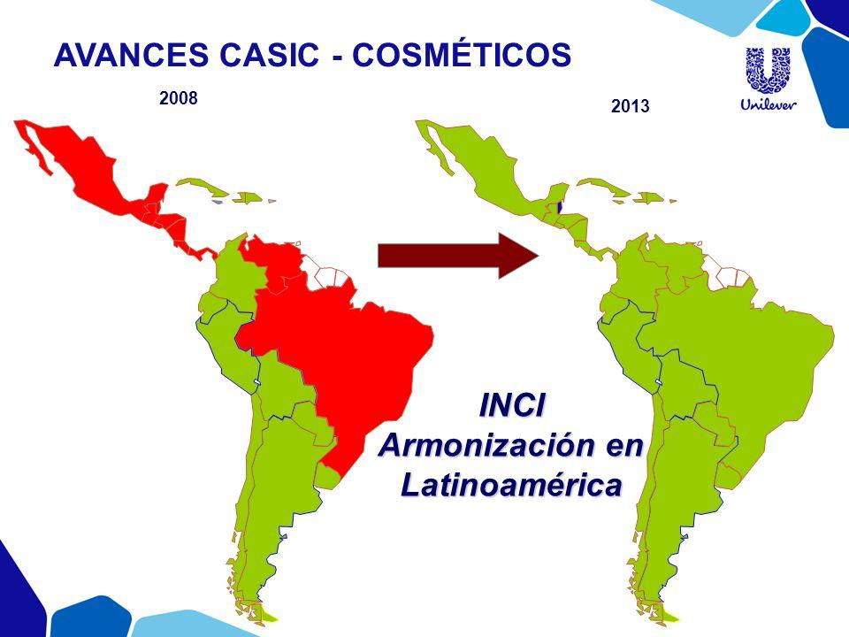 2008 2013 INCI Armonización en Latinoamérica