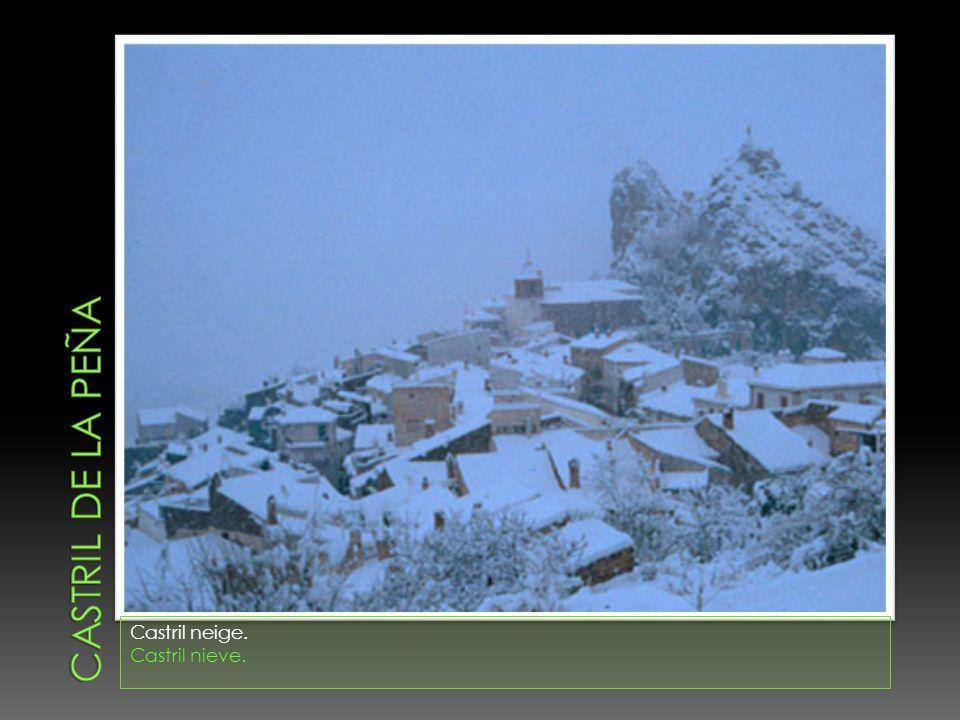 Castril neige. Castril nieve.