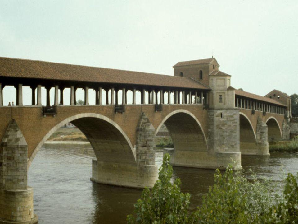 PONT DE PAVIE Lombardie Italie Relie le centre de la ville à lancien bourg médiéval. Bombardé pendant la seconde guerre mondiale, il a été reconstruit